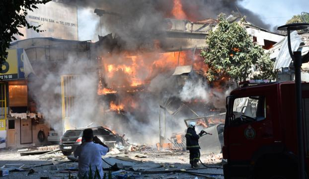 Samsunda sanayi sitesinde büyük patlama