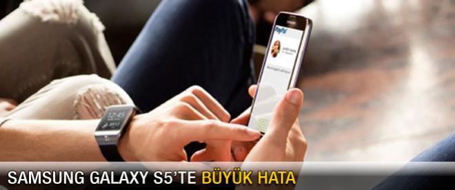 Samsung Galaxy S5'te büyük hata