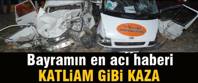 Şanlıurfa'da trafik kazası: 7 ölü