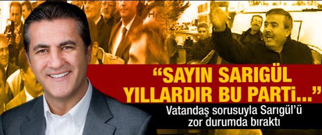Cuma namazı çıkışı Mustafa Sarıgül'e tepki
