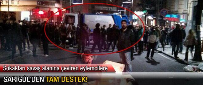 Sarıgül'ün kamyonu eylemcilere siper oldu