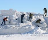 Sarıkamış Şehitleri Kardan Heykellerinin yapımına başlandı