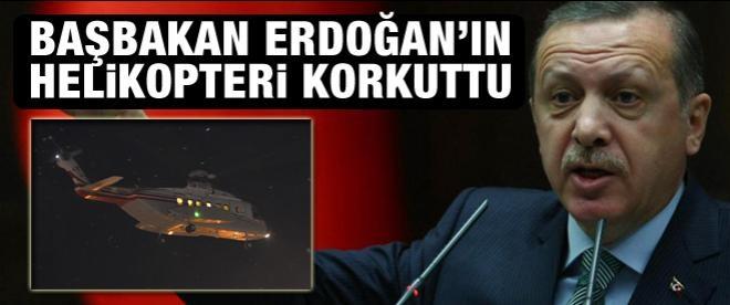 Başbakan'ın helikopteri korkuttu