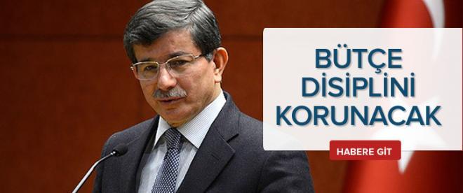 Davutoğlu'ndan bütçe açıklaması