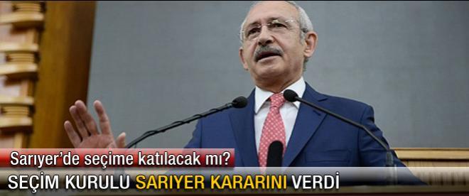 CHP Sarıyer'de seçime katılacak mı?