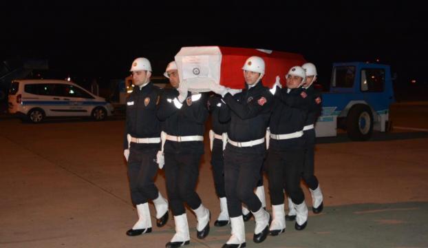 Şehidin cenazesi Trabzona getirildi