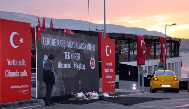 Beşiktaş yönetimi Şehitler Tepesinde