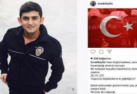 İstanbul'daki saldırıda şehit düşen polis memuru Yıldız'ın paylaşımı duygulandırdı