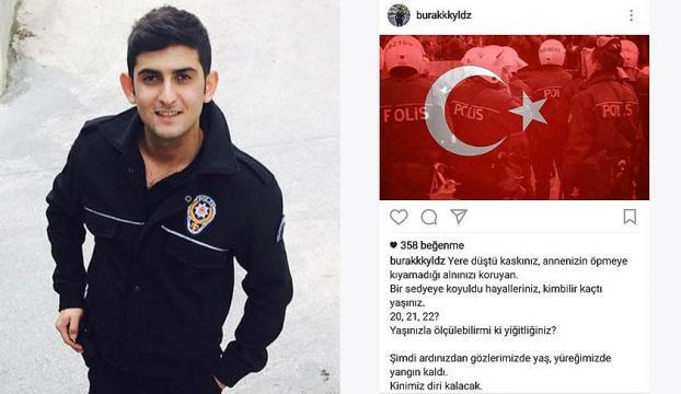 İstanbuldaki saldırıda şehit düşen polis memuru Yıldızın paylaşımı duygulandırdı