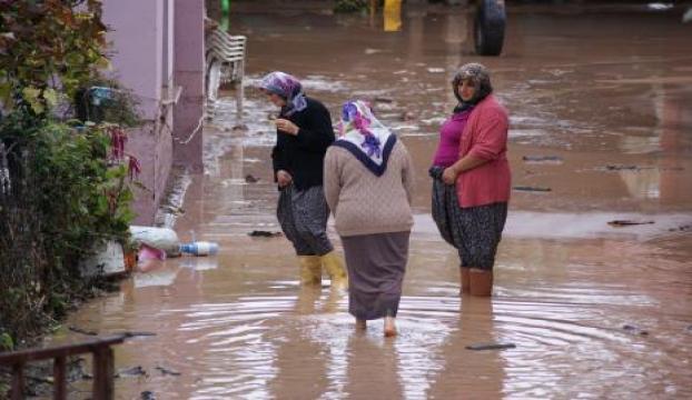 Sel Eşmeyi vurdu, evleri su bastı