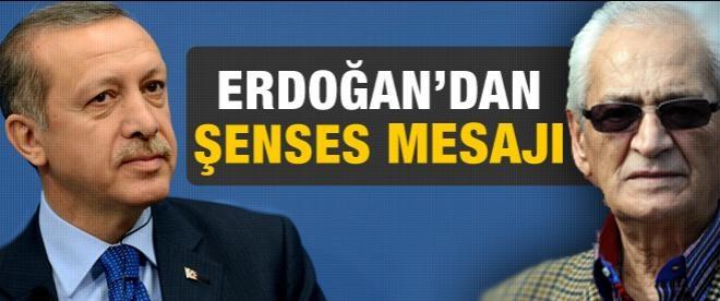 Erdoğan'dan Adnan Şenses mesajı