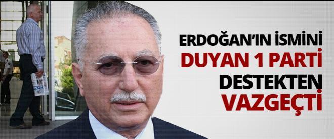 DYP, İhsanoğlu'na desteğini çekti