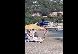 """SHGM """"plaja iniş yapan helikopter""""le ilgili işletme ve pilottan açıklama isteyecek"""