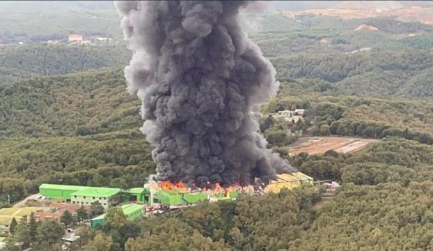 Şilede fabrika yangını
