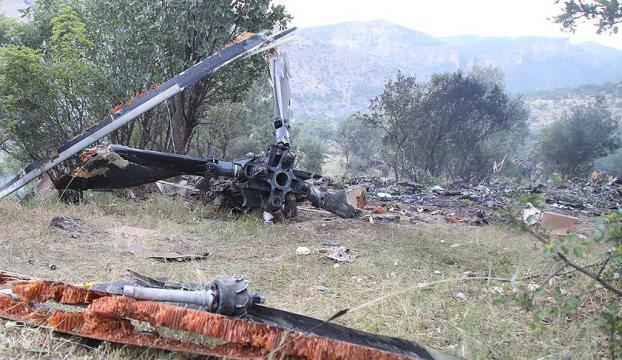 Şırnakta askeri helikopter düştü : 13 şehit