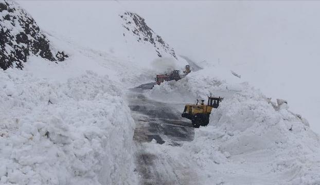 Çığın kapattığı Hakkari-Şırnak kara yolu ulaşıma açıldı