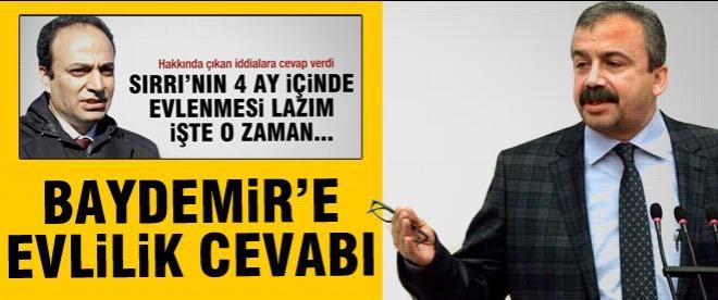 Sırrı Süreyya Önder'den Baydemir'e evlilik yanıtı
