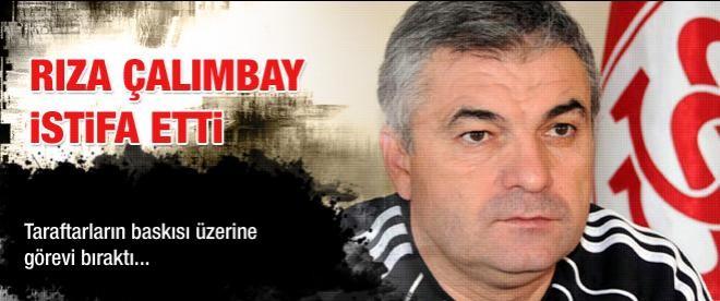 Sivasspor'da Rıza Çalımbay istifa etti