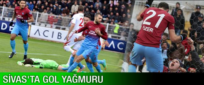 Sivas'ta gol yağmuru