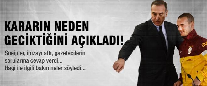 Wesley Sneijder resmen Galatasaraylı