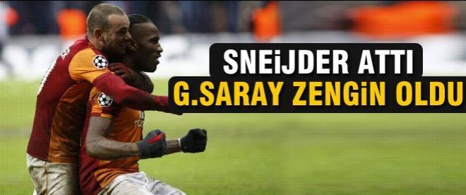 Sneijder attı Galatasaray hisseleri coştu