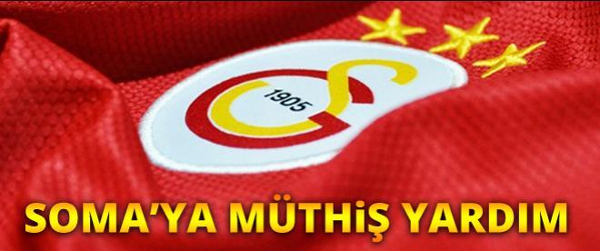 Galatasaraylı yıldızlardan Soma'ya büyük yardım