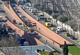 Barcelona'da çalıntı tüp kamyonu korku saçtı