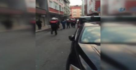 testGaspçı polisle çatıştı