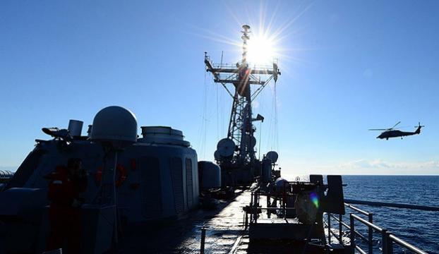 Türk gemisi koruma görevinde