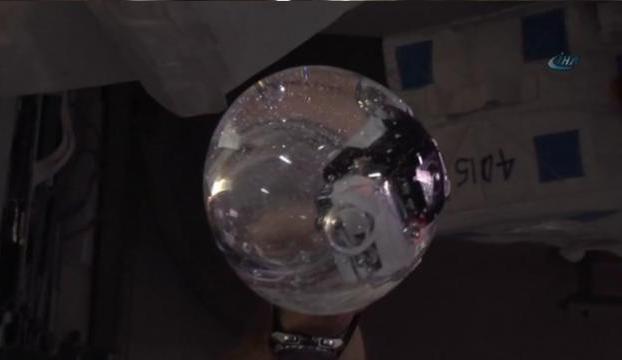 Su balonuna kamera koyup çekim yaptılar