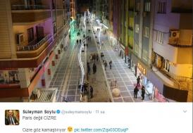 Süleyman Soylu'dan Cizre tweeti