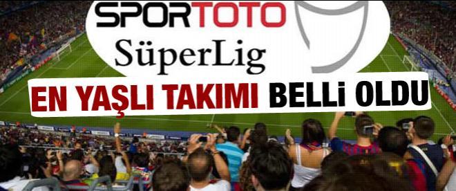 Süper Lig'in en yaşlı takımı belli oldu