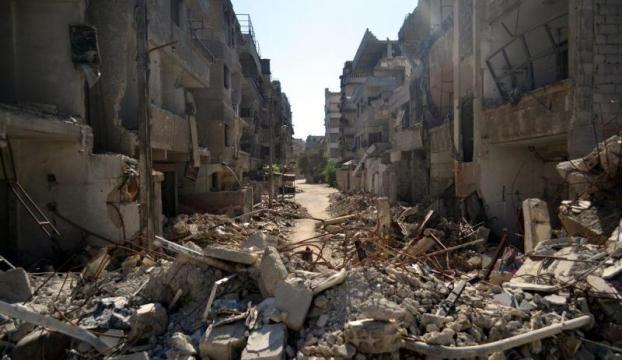 Suriye sınırında bombalama