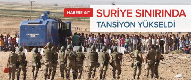 Suriye sınırında tansiyon yükseliyor