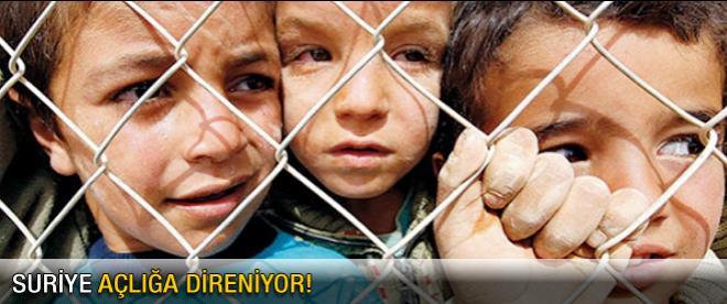 Suriye açlığa karşı direniyor