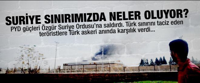 TSK, sınırdaki PYD'ye uyarı ateşi açtı