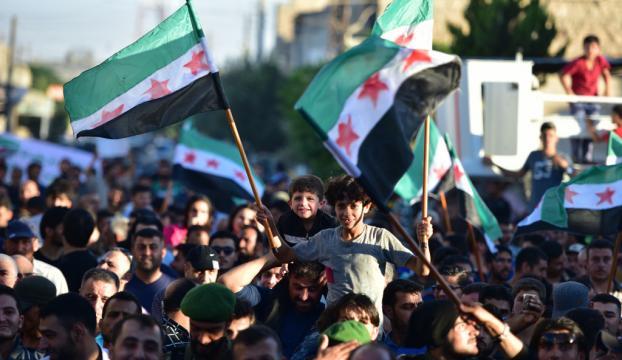 Suriyede PKK/PYD protestosu