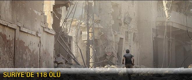 Suriye'de 118 kişi öldü
