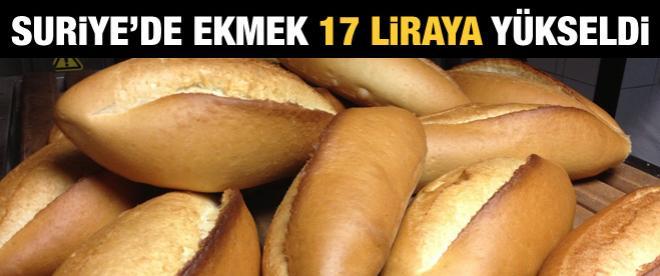 Suriye'de ekmek fiyatı 17 liraya çıktı