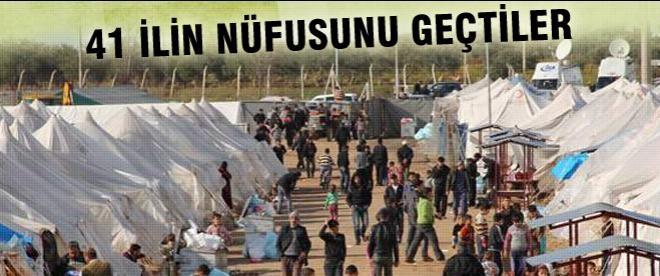 Suriyeliler 41 ilin nüfusunu geçti
