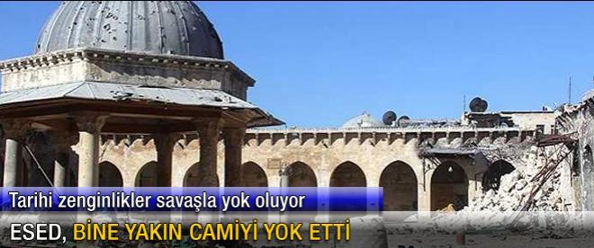 Esed, bine yakın camiyi yok etti