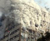 Tahran'da 17 katlı iş yeri çöktü
