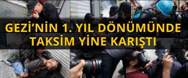 Taksim'de 'Gezi' müdahalesi