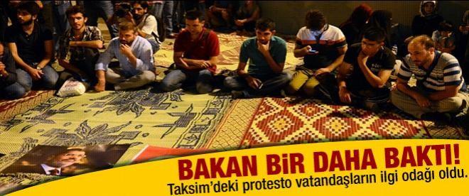 Taksim Meydanı'ndan Mursi'ye destek