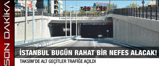 Taksim'de trafik yerin altına indi