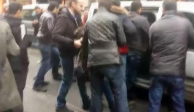 Taksimde eylemcilere müdahale