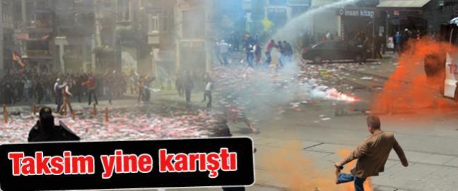Taksim'de yine eylem yine polis müdahalesi