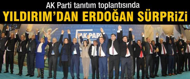 AK Parti tanıtım toplantısında 'Başbakan' sürprizi