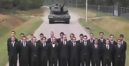 Tankın fren testi yürekleri ağızlara getirdi
