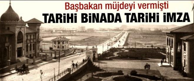 Tarihi binada tarihi imza